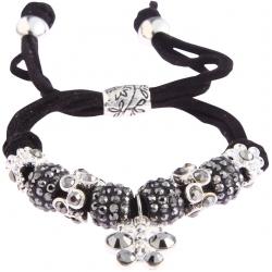 Náramek Shamballa krystalek Motýl, černý 13719