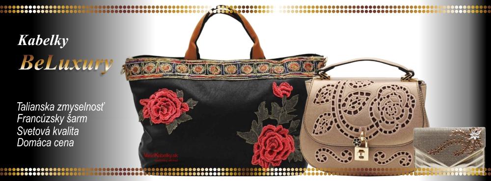 kabelky, značkové kabelky BeLuxury, lacne kabelky, damske kabelky